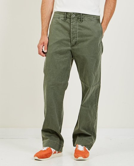 RRL Field Chino Flat Pant - Olive