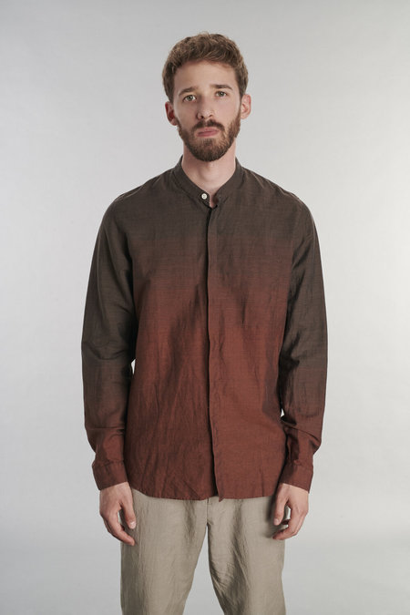 Delikatessen Zen Linen Shirt - Masterful Fading Brown