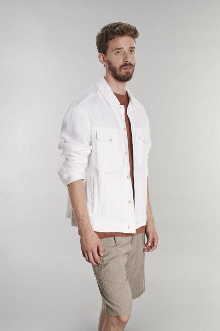 Delikatessen Oversized Linen Jacket - White