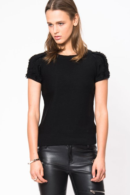 Primary New York Fringe Sweater Tee - Black