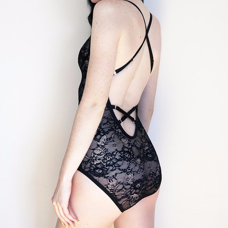 Bully Boy Greer Bodysuit (Black Lace)