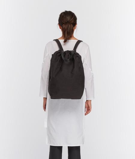 Building Block Draw Backpack - Black Crinkle