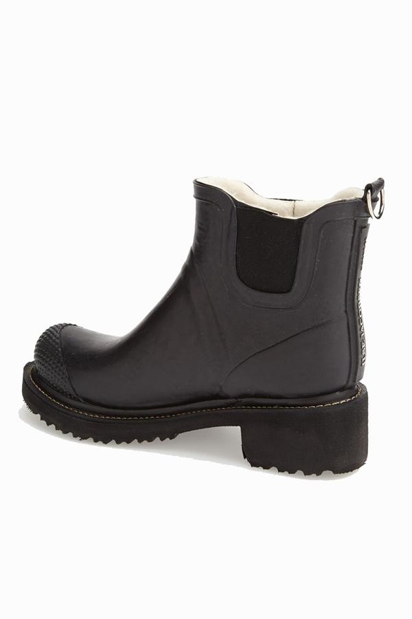 ILSE JACOBSEN Hornbaek 'RUB 47' Short Rain Boot- Black