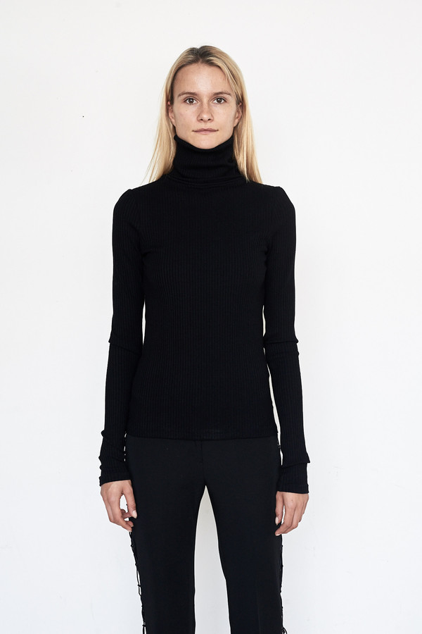 Assembly New York Viscose Ribbed Turtleneck