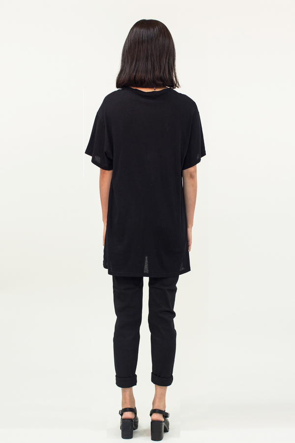 LACAUSA  Tall Tee- Black
