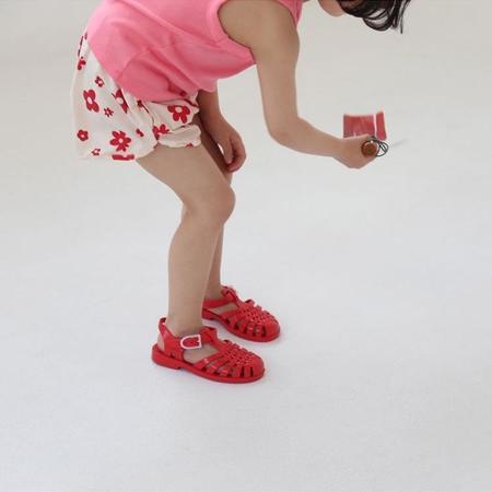 Kids Guno Anything Short - Ivory/Red