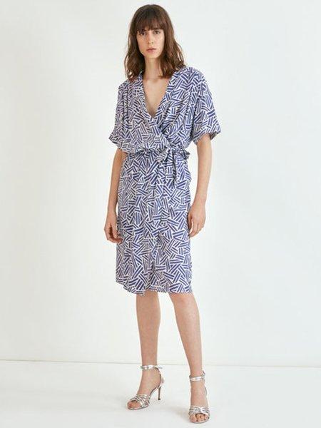 Suncoo Charly Geo Dress - Blue