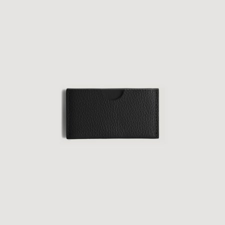 They Circle Wallet with Pebble Grain - Black/White