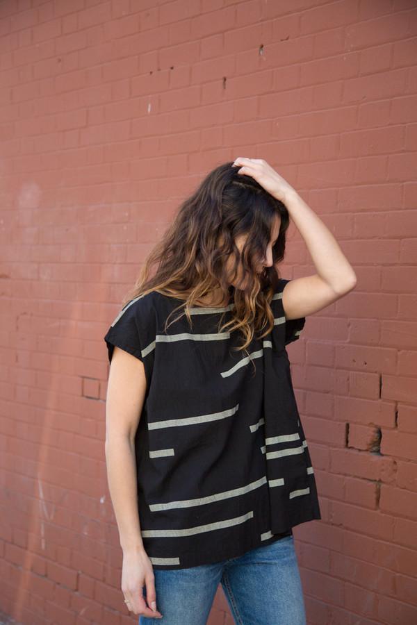 Uzi NYC uzi broken stripe tunic