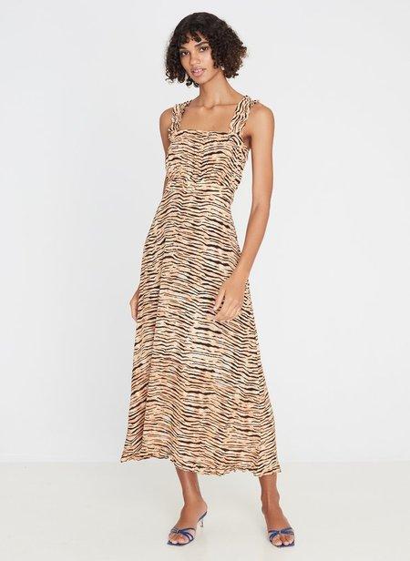 Faithfull The Brand Saint Tropez Midi Dress - Wyldie Animal Print