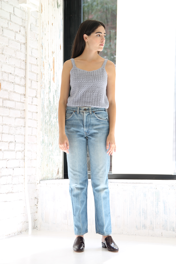 DUO NYC Vintage Cropped Knit Tank