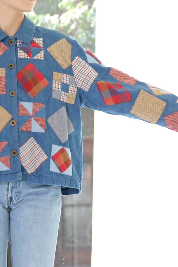 DUO NYC Vintage Denim Patchwork Jacket