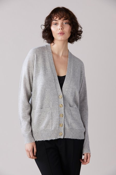 Laing Home Claude Cashmere Cardigan - Grey Marle