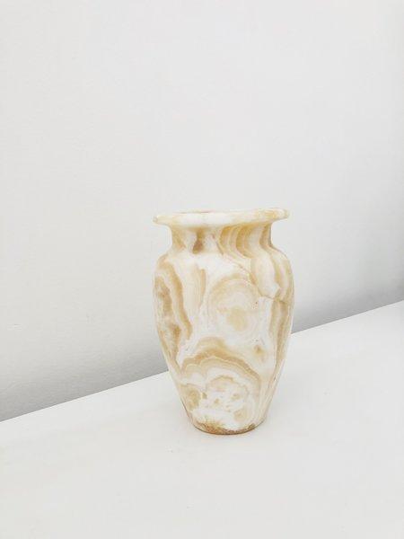 Vintage Alabaster Vase - Yellow