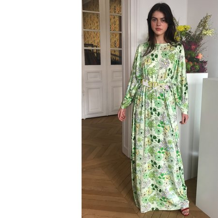 BERNADETTE Elisabeth Jersey Maxi Dress - Green Floral