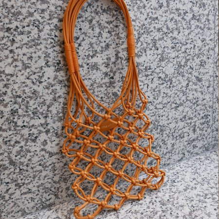 Little Liffner Knotted Mini Tote - Orange