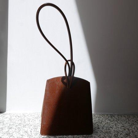 LITTLE LIFFNER Loop Bag - Lizard Embossed Calf Dark Brown