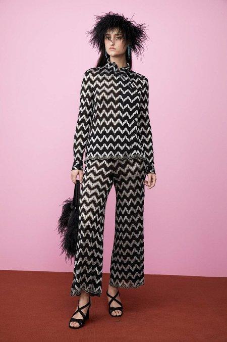 Rachel Comey Pienza Top - Squiggle Lace Black