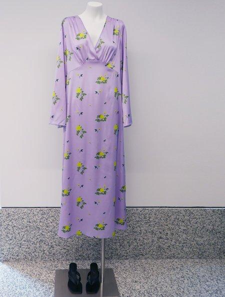 BERNADETTE Sarah Silk Satin Dress - Lilac