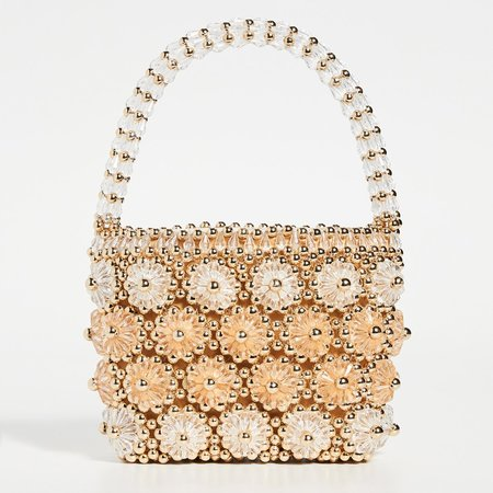 Shrimps Shelly Beaded Bag - Gold/Apricot