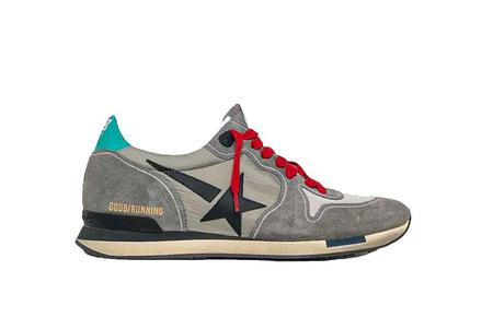 Golden Goose Running Suede Sneakers - Grey/Black