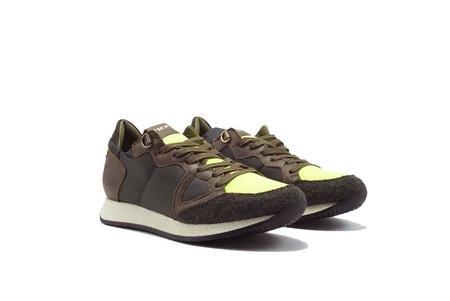 Philippe Model Monaco Trekking Sneaker - Military/Yellow