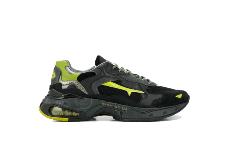 Premiata Sharky Sneaker - Black/Green