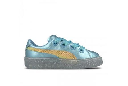 Puma x Sophia Women Webster Platform Glitter Princess Shoes- Blue/Gold