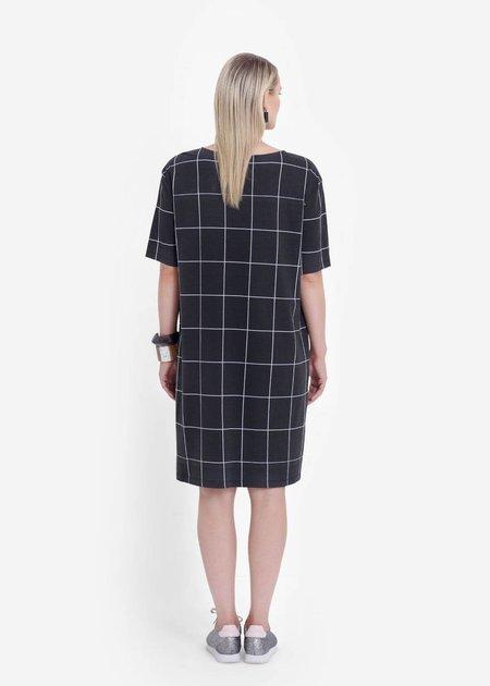 Elk Trige Dress - Black/White