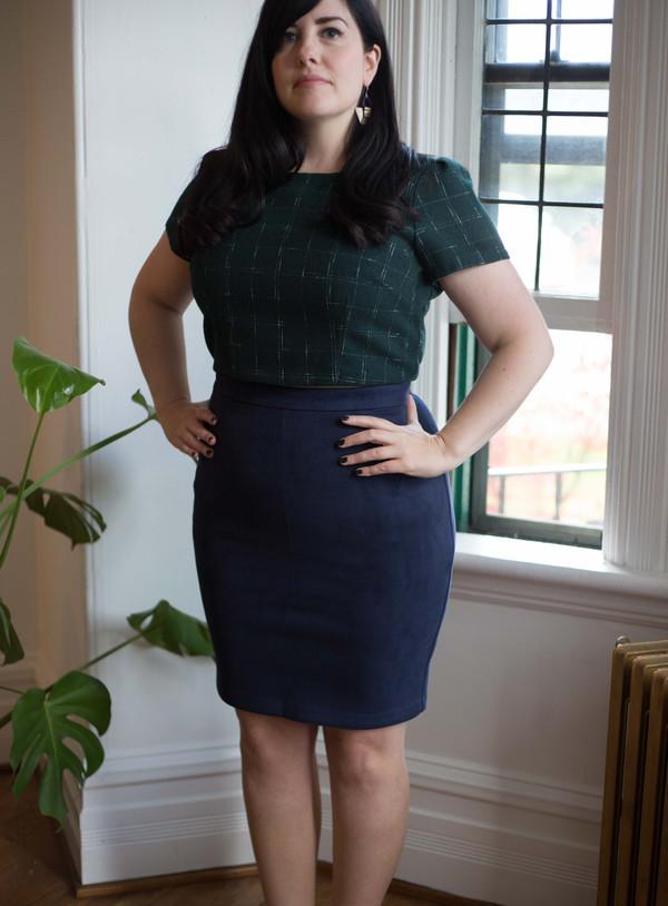 Valérie Dumaine Hilma Skirt - Navy
