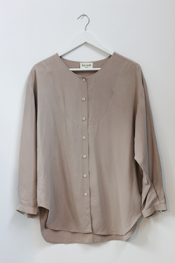 Hey Jude Vintage Sandstone Silk Tunic