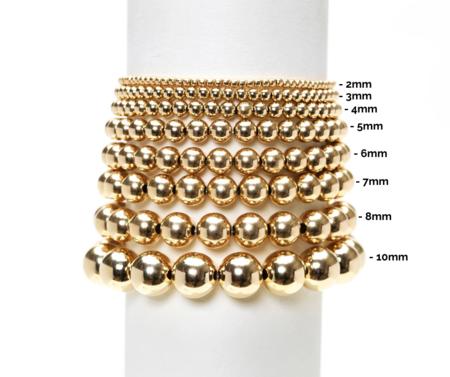 Karen Lazar 3MM Rose Gold Filled Bracelet with Orzo Pattern