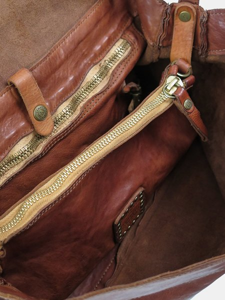 campomaggi large travel bag - cognac