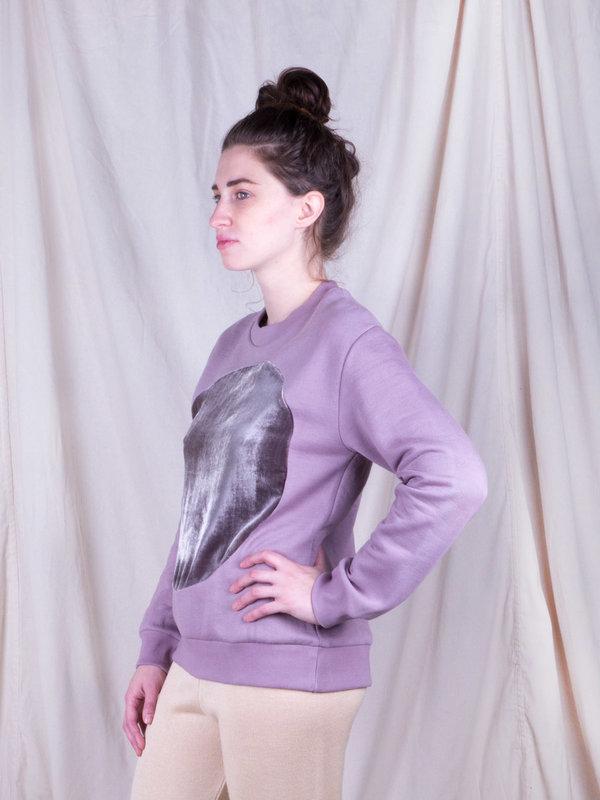 Correll Correll Mauve Circle Sweatshirt