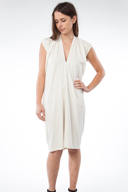 Miranda Bennett In-Stock: Everyday Dress, Silk Noil in Natural