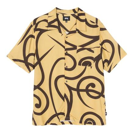 Stussy Tribal Pattern SS Shirt - Yellow