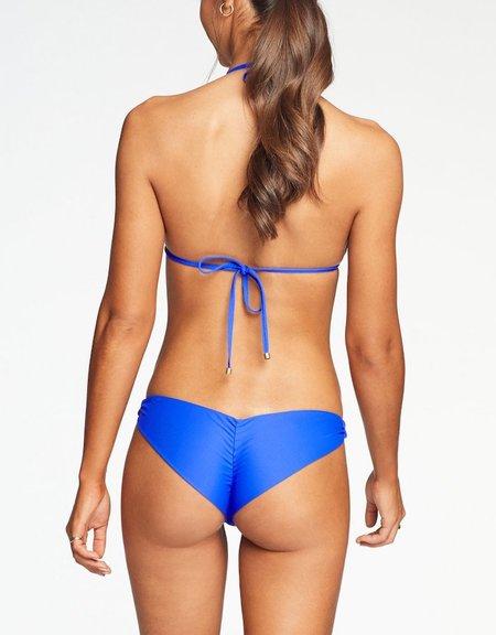 Vitamin A Samba Ruched Bottom - Spa Blue