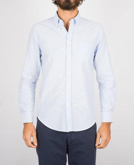 Portuguese Flannel Belavista Shirt - Light Blue Stripe