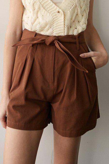 Mabel and Moss Amara Shorts - Brick