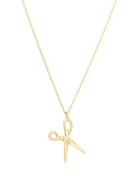 Futaba Hayashi Scissor necklace - 14K reclaimed gold