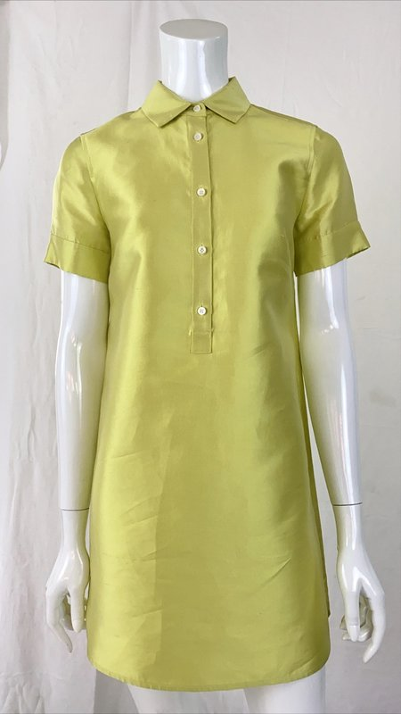 Vintage Shirt Dress - Chartreuse