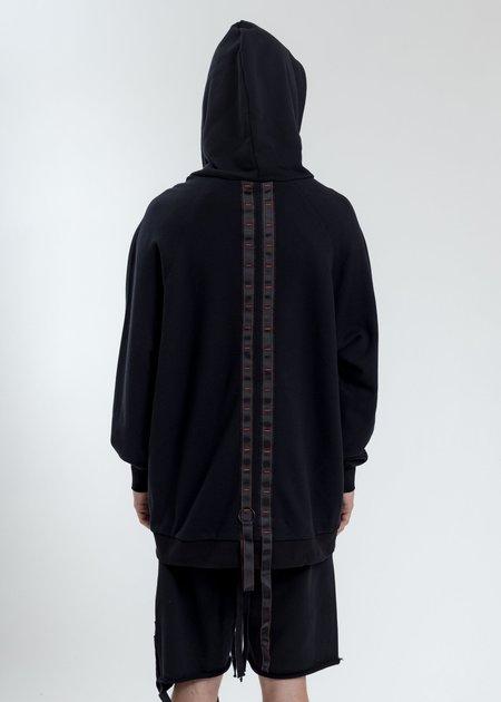 Komakino Oversized Hoodie With Tape - Black