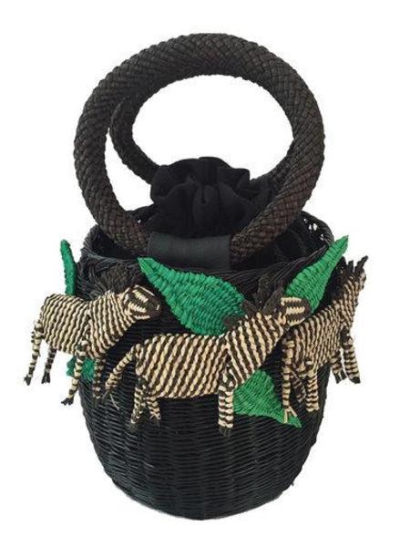 Serpui Zebra Basket Bag
