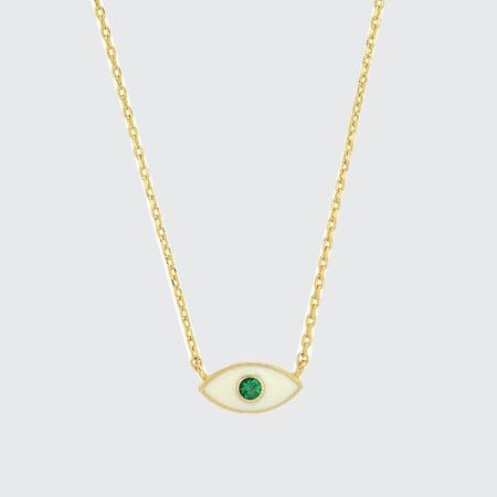tai Marquise Evil Eye Necklace - Green