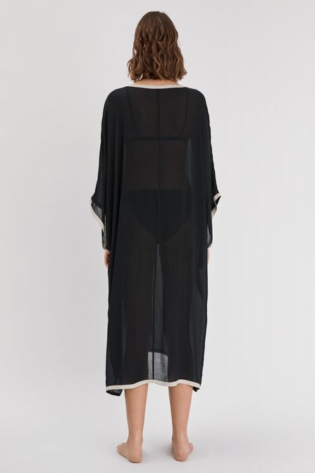 Filippa K Two tone Caftan - Black/Ivory