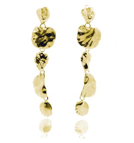 Ariana Boussard-Reifel artemisia long single earring - Brass