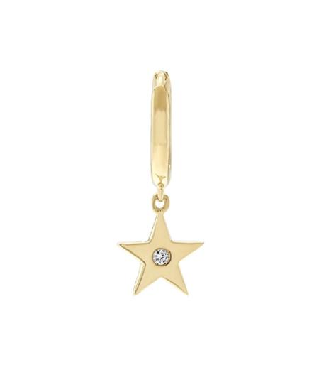 andrea fohrman single stone star hoop - 18K Gold