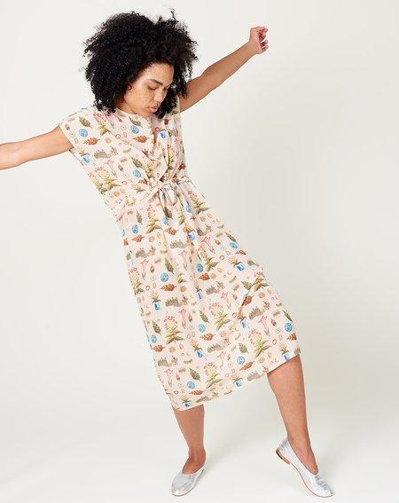 Anntian Simple Dress - Botanic