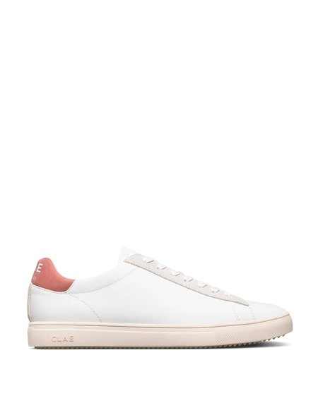 Clae Bradley Milled Leather Sneakers - Terracotta