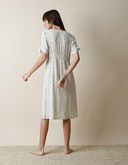 Indi & Cold Floral V Neck Dress - Crudo